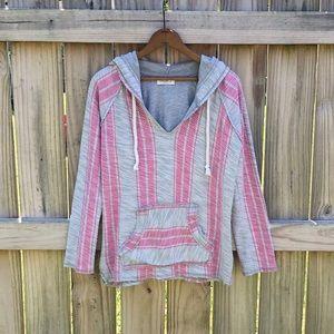 Ocean Drive Striped Baja Sweatshirt